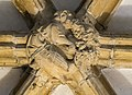 Lincoln Cathedral Slype Roof Boss, 8th from S. (38433153960).jpg
