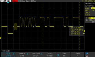 EIA-608 - EIA 608 closed caption signal on an NTSC analog television signal
