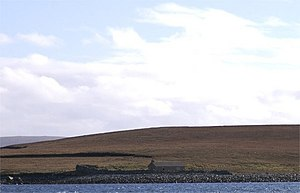 Linga, Yell - A hut in the north of the island.