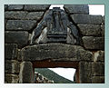 Lion gate in Mycenae CCASA 3 0 img by Rokaszil edited by K Vail w border.jpg