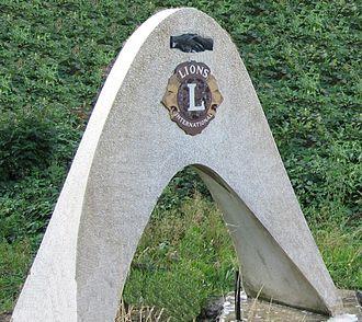 Lions Clubs International - Lions Club Bridge, a symbol for International Friendship and Cooperation (location: Aachen-Lichtenbusch, German-Belgian Border checkpoint)