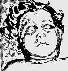 Sketch created from study of morgue photographs to depict an estimation of the victim