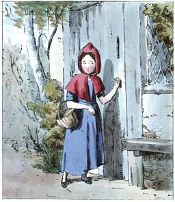 Little Red Riding Hood Knocking at Her Grandmother's Door