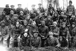 Liverpool Irish - The Liverpool Irish assembled for a photograph after they had conducted the 55th Division's first major action in April 1916.
