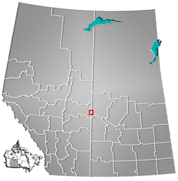 Location in Alberta and Saskatchewan