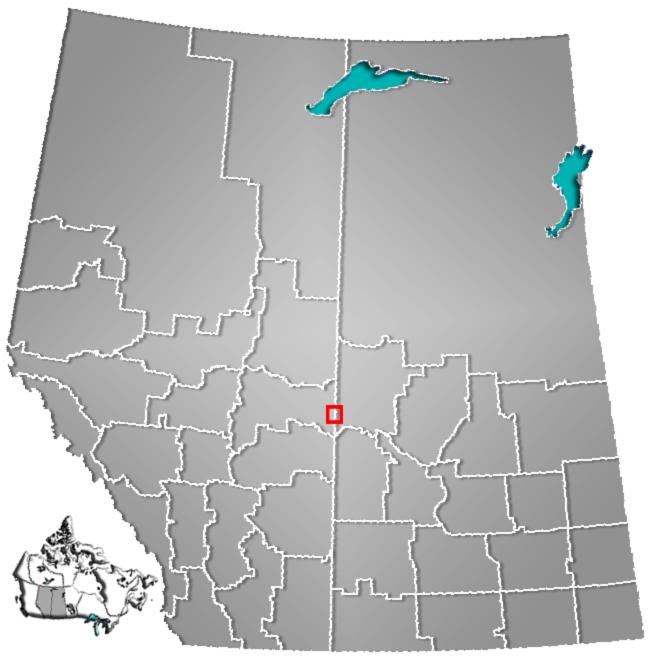 Location of Lloydminster in Alberta and Saskatchewan