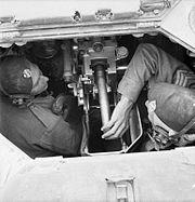 Loading Valentine tank 2 pdr gun IWM E 9766