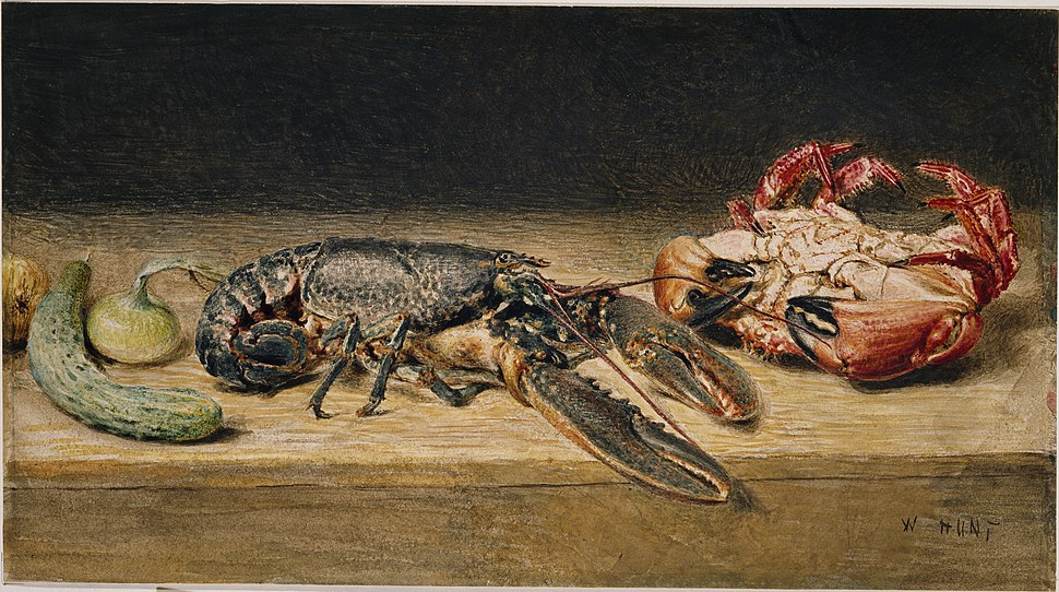 Lobster, Crab, and a Cucumber - 1891P32
