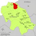Localització de Pina respecte de l'Alt Palància.png