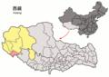 Location of Burang within Xizang (China).png