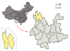 Location of Dêqên Prefecture within Yunnan (China).png