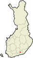 Location of Kuusankoski in Finland.png