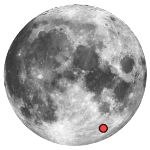 Location of lunar crater metius
