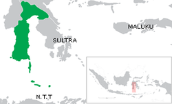 Peta lokasi Sulawesi Selatan