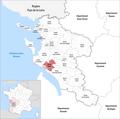 Locator map of Kanton Saujon 2019.png