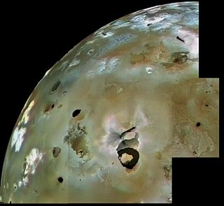 Loki Patera The largest volcanic depression on Jupiters moon Io
