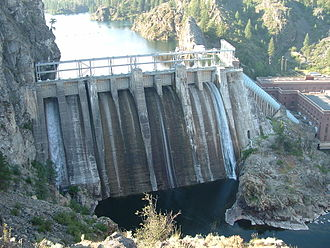 Spokane River - Long Lake Dam on the Spokane River, the construction of which wiped out the salmon populations that used to travel upstream