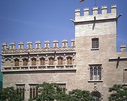 La Lonja de la Seda. Consulate of the Sea and Tower