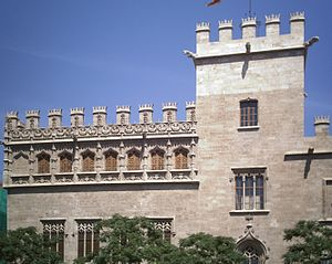 Consulate of the Sea - The Llotja de la Seda, seat of the Consulate of the Sea in Valencia since 1498.