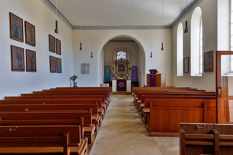 Datei:Lonsee Luizhausen Michaelskirche Kirchenschiff 2020 03 15.jpg