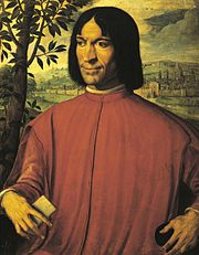 Lorenzo de' Medici, ruler of Florence and patron of arts.