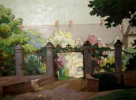 Louis Jean-Baptiste Vasseur - Les grilles du château de Thoix 1933-k-110.JPG