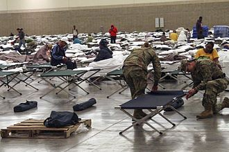 2016 Louisiana floods - The Baton Rouge River Center served as a shelter for hundreds of displaced flood victims.