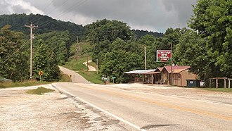 Newton County, Arkansas - Low Gap community within the Boston Mountains along Highway 74