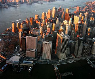 Downtown - Lower Manhattan, also known as the Financial District, New York City's original downtown