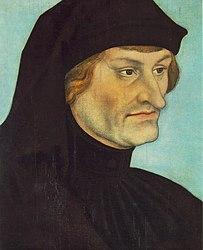 Lucas Cranach l'Ancien: Portrait of Rudolph Agricola or Portrait of Johannes Geiler von Kaysersberg