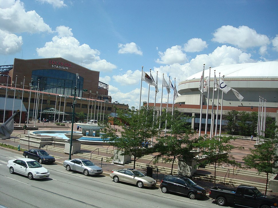 Lucas Oil Stadium and the RCA Dome (2772381047)