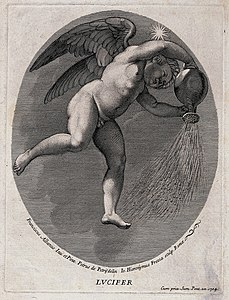 Lucifer (the morning star). Engraving by G.H. Frezza, 1704, Wellcome V0035916.jpg