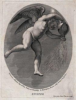 Lucifer (the morning star). Engraving by G.H. Frezza, 1704, Wellcome V0035916.jpg