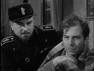 Long Night in 1943 - Gino Cervi and Enrico Maria Salerno in a scene of the movie.