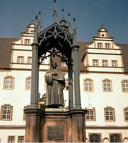 Pomnik Marcina Lutra w Wittenberdze