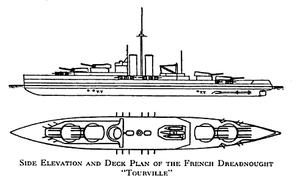 Lyon-class battleship - Image: Lyon class linedrawing