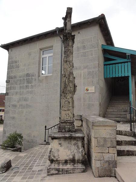 Méligny-le-Petit (Meuse) croix de chemin B