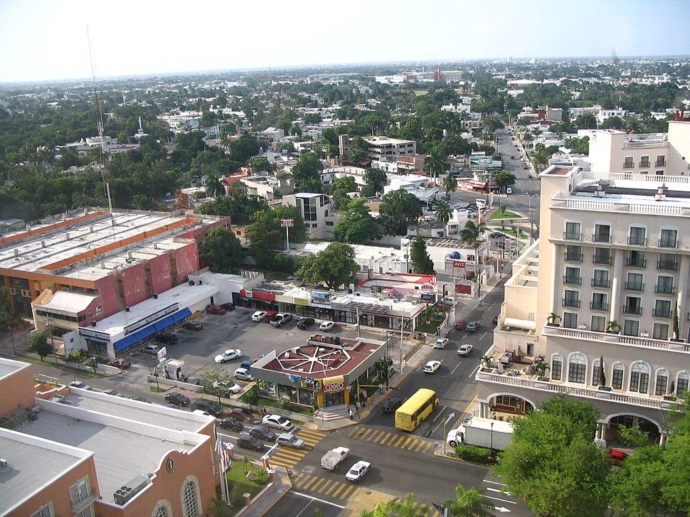 Mérida, Yucatán from the 16th floor of Hyatt