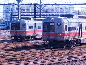 M2 (railcar) - M4s in the New Haven yard.
