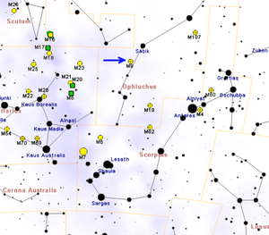 Messier 9 - Image: M9map