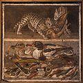 MANNapoli 9993 mosaic casa del fauno cat birds ducks Pompeii Italy.jpg