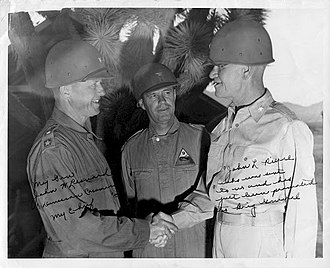 John L. Pierce - Image: MG John Leonard, Col. Albert Kelly and BG John L. Pierce