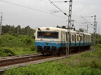 Hyderabad Multi-Modal Transport System - MMTS local at Begumpet