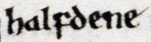 Halfdan Ragnarsson - Image: MS. Laud Misc. 636, folio 31r excerpt