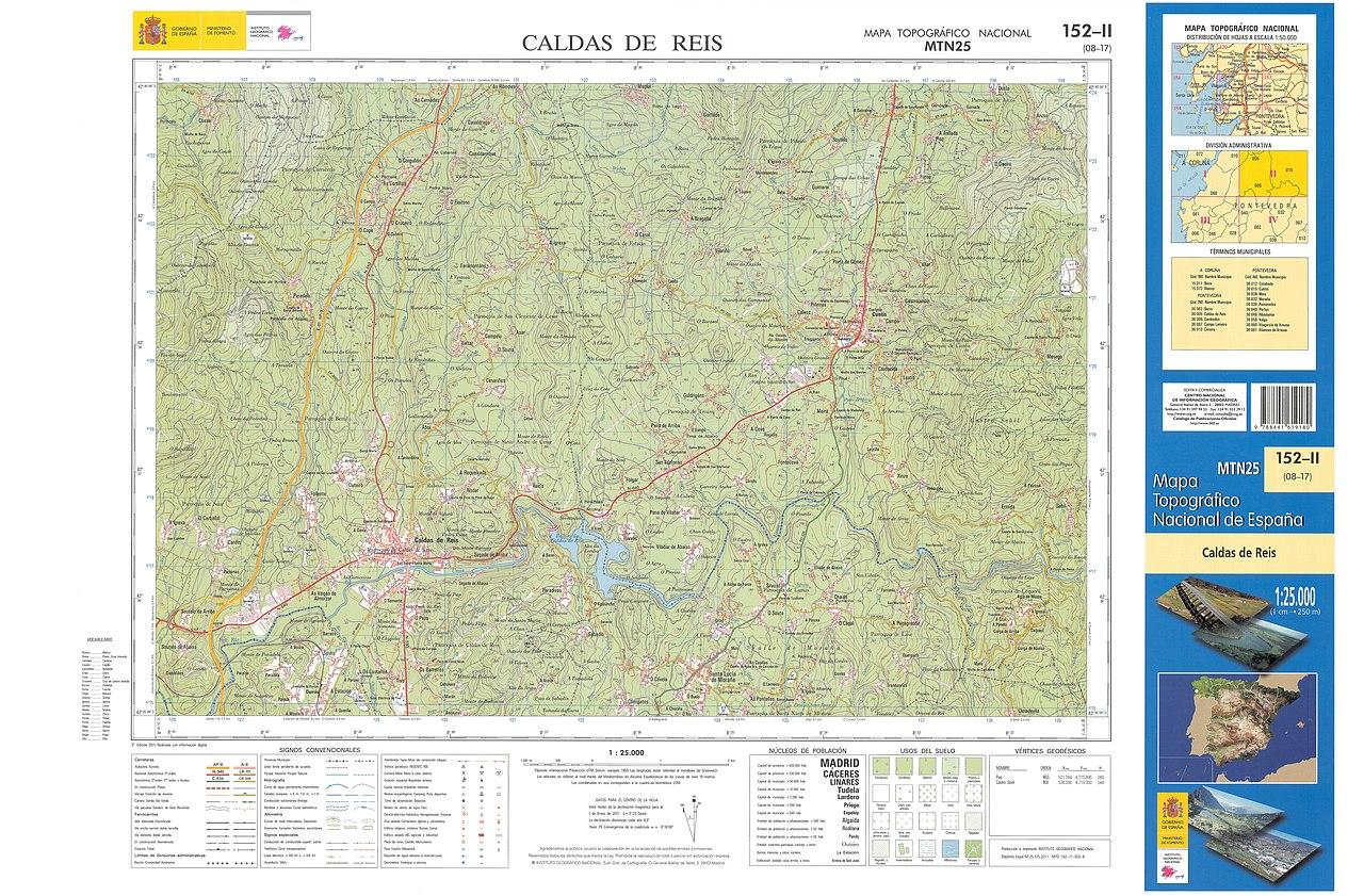 Caldas De Reis Mapa.File Mtn25 0152c2 2011 Caldas De Reis Jpg Wikimedia Commons