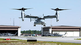 Un MV-22 dell'United States Marine Corps