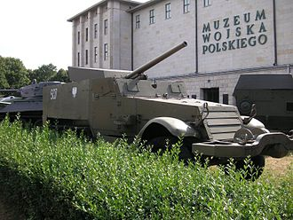 Polish Army Museum - M-3 Halftrack in front of the museum