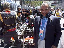 Ijaz at the Monaco Grand Prix in 2013