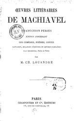 Nicolas Machiavel: Œuvres littéraires de Machiavel