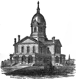 Madison County Courthouse (Iowa) - Courthouse in 1869